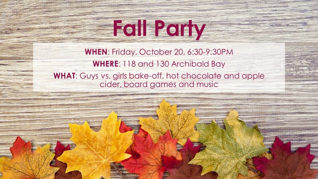 Fall Party - Special Event