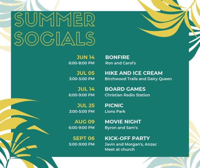 NorthLife Youth Summer Socials